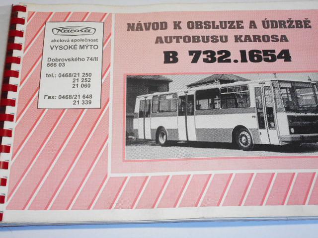 Karosa B 732.1654 - návod k obsluze a údržbě autobusu