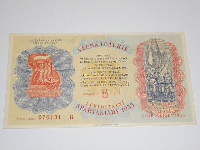 Věcná loterie I. celostátní spartakiády 1955 - los