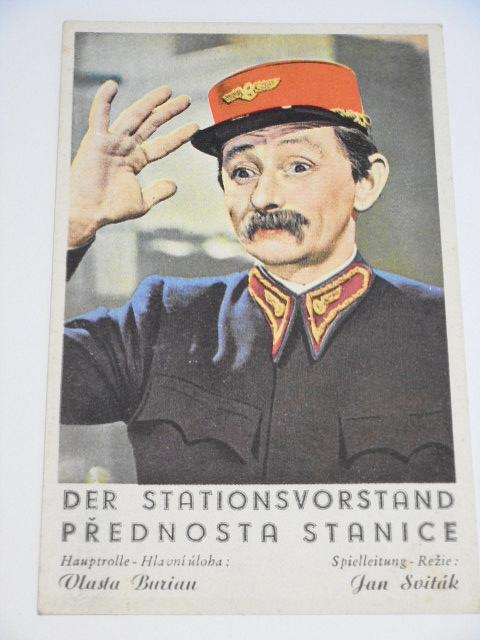 Přednosta stanice - Der Stationsvorstand - Vlasta Burian - pohlednice - Bromfilm