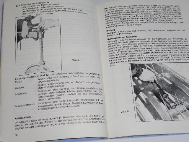 Reform Mäher 111 S, 112, 131 - Betriebsanleitung - Ersatzteileliste - 1974/75