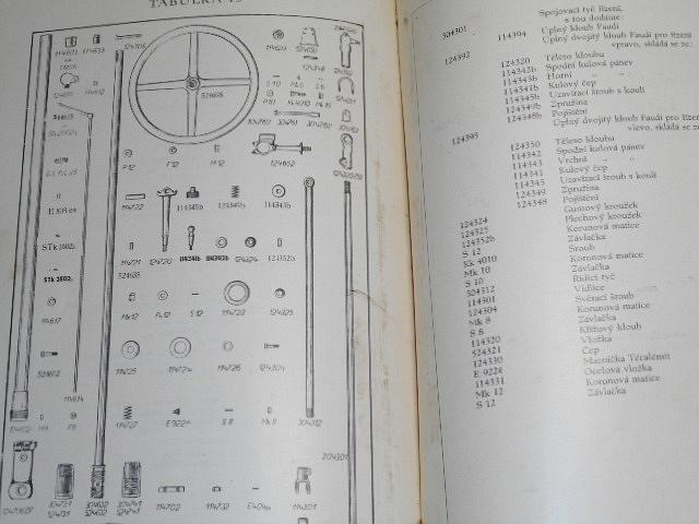 Tatra 52 8/30 KS - 1937 - popis a předpisy pro obsluhu, poruchy motoru a jejich příčiny, seznam součástí