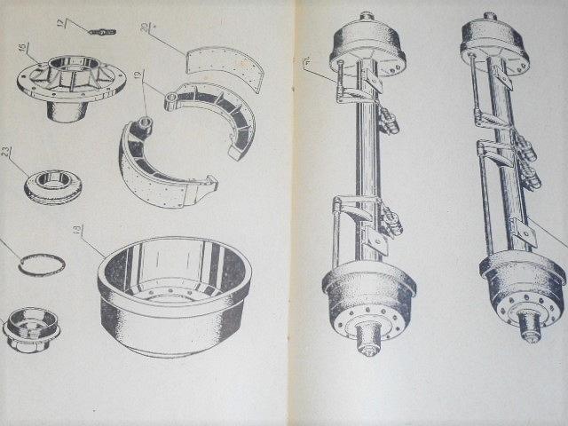 BSS - automobilový valníkový přívěs A 10 V - technická data, návod k obsluze, seznam součástek - 1964