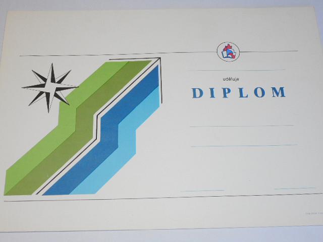 PO SSM - Pionýrská organizace Socialistického svazu mládeže - diplom