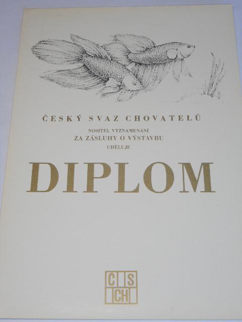 ČSCH - Český svaz chovatelů - diplom