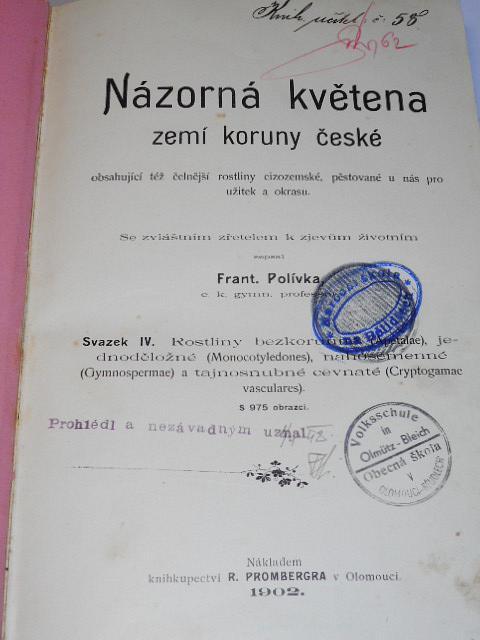 Názorná květena zemí koruny české - svazek IV. - František Polívka - 1902