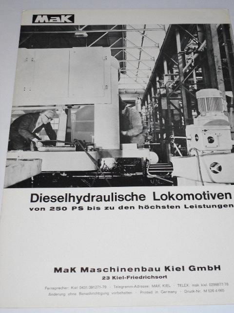 MaK Dieselhydraulische Lokomotiven - prospekt