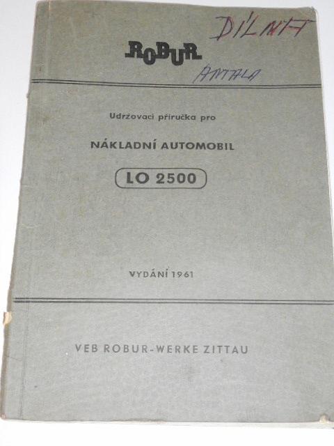 Robur LO 2500 - udržovací příručka pro nákladní automobil - 1961