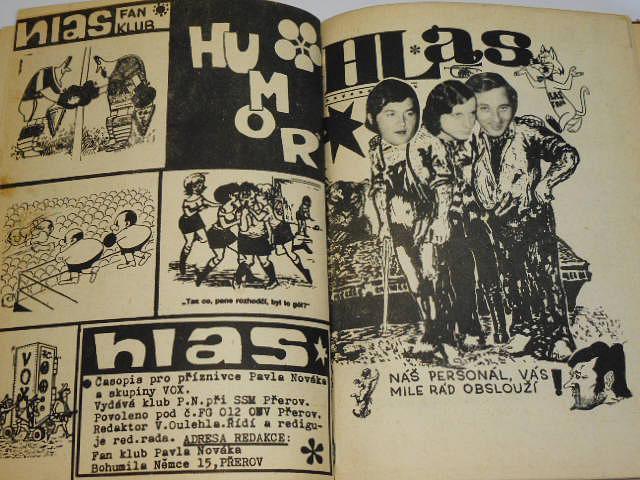 Hlas - časopis pro všechny příznivce Pavla Nováka a skupiny VOX - 1971