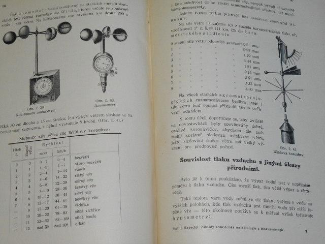 Základy zemědělské meteorologie a bioklimatologie - Josef Kopecký - 1923