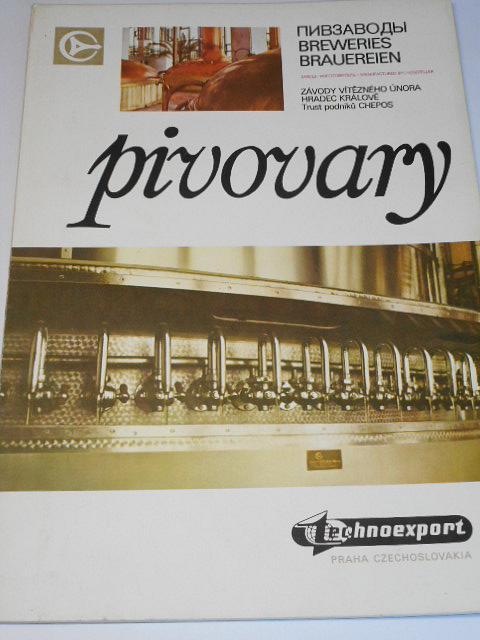 Pivovary - Breweries - Brauereien - Závody Vítězného února Hradec Králové Trust podniků Chepos - prospekt - Technoexport