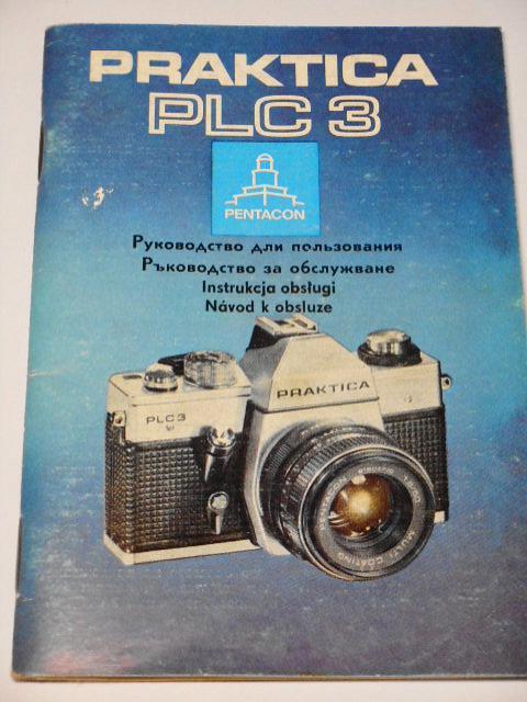 Pentacon - Praktica PLC 3 - návod k obsluze - 1977
