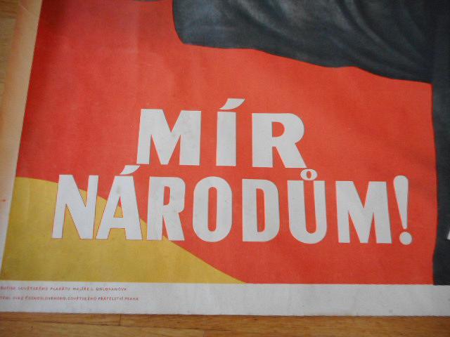 Mír národům! V. I. Lenin - plakát