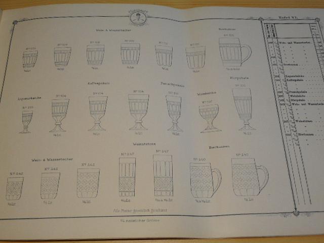 Brillant - Krystall - Pressglas - J. Schreiber a Neffen - 1893 - katalog