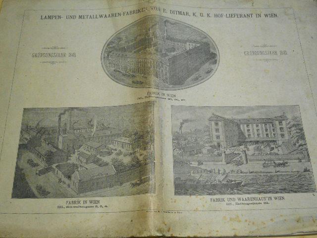 Lampen - und Metall - Waren - Fabrik - R. Ditmar Wien - Ergänzungsheft 1899