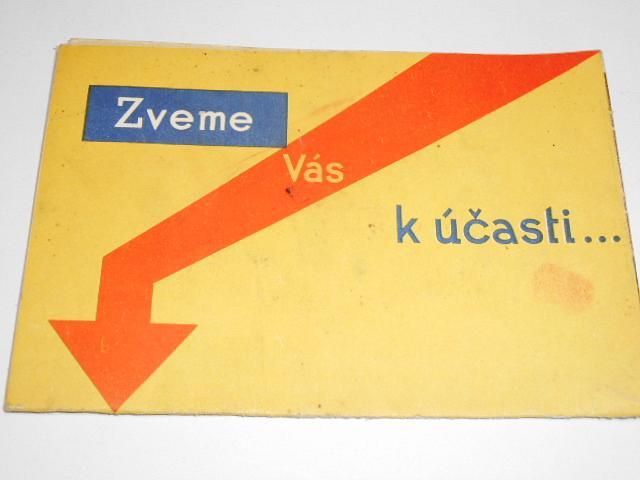 Zveme Vás k účast...  Bělík a spol. v Praze - čs. třídní loterie - 3 D prospekt - 1937