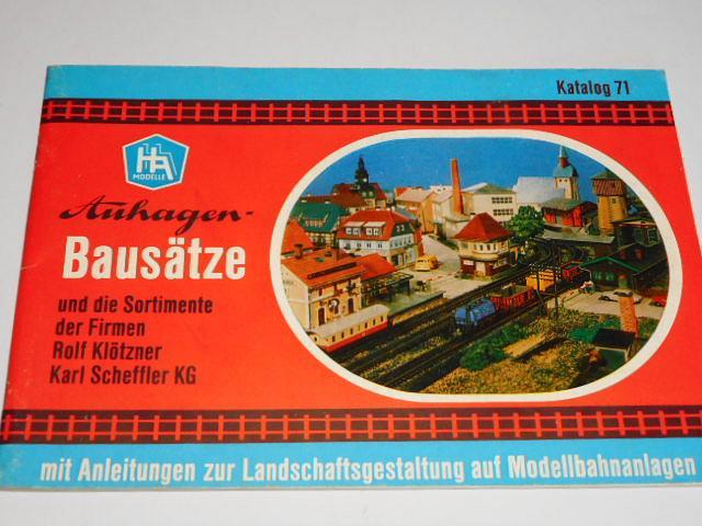 Auhagen - Bausätze und die Sortimente der Firmen Rolf Klötzner Karl Scheffler KG mit Anleitungen zur Landschaftsgestaltung auf Modellbahnanlagen - prospekt - 1970