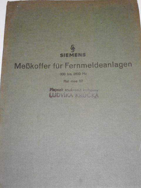 Siemens - Messkoffer für Fernmeldeanlagen 300 bis 2800 Hz Rel mse 57 - 1942