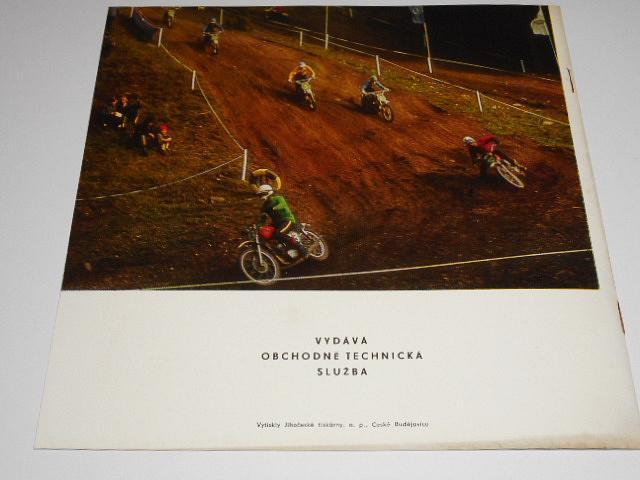 ČZ motocross 1971 - 125 ccm, 250 ccm, 400 ccm - prospekt