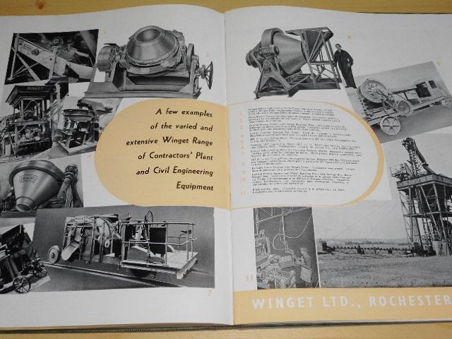 British construction equipment - civil engineering - building - quarrying - 1947