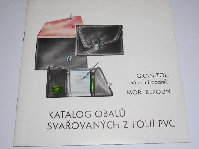 Granitol n. p. Mor. Beroun - katalog obalů svařovaných z fólií PVC - 1970