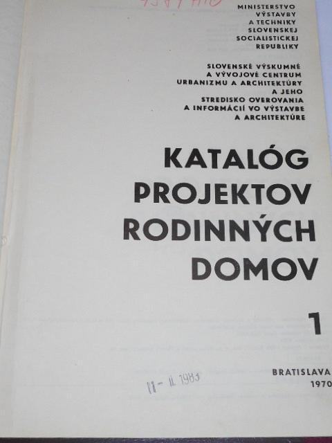 Katalóg projektov rodinných domov 1 - 1970