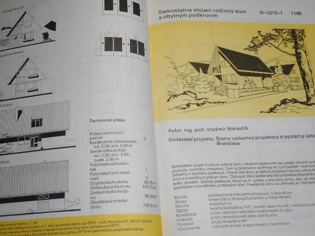 Katalóg projektov rodinných domov 7 - 1984