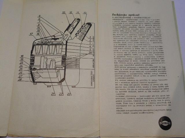 Akordeon - harmonika - návod k obsluze - 1972 - Československé hudební nástroje