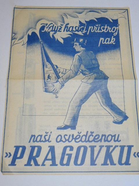 Praga - hasicí přístroj - prospekt