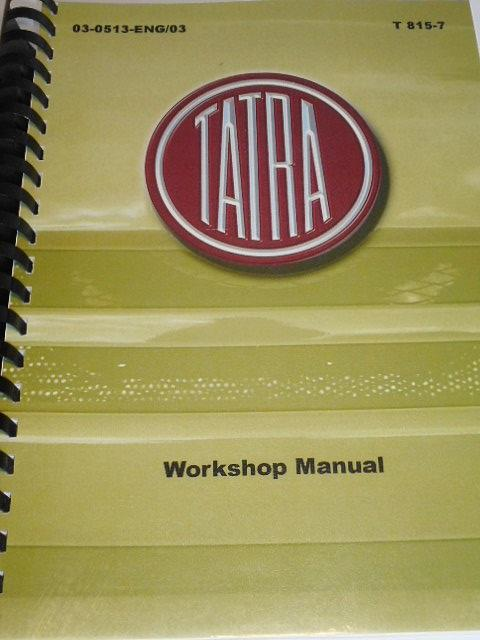 Tatra 815-7 - Workshop Manual - 2010