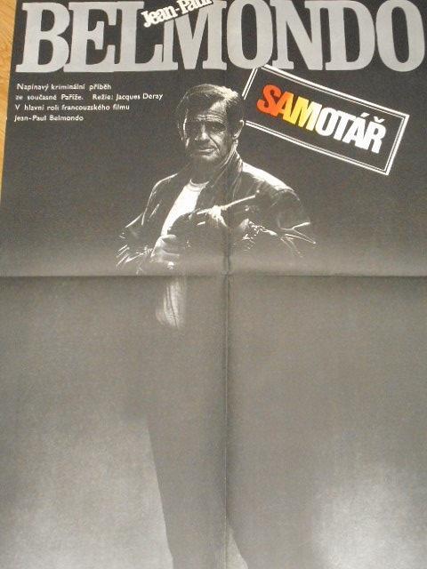 Samotář - Jean-Paul Belmondo - filmový plakát - 1988