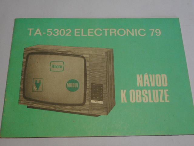 TA-5302 Electronic 79 - návod k obsluze - Videoton