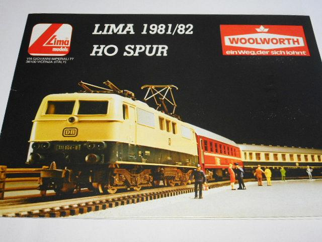 Lima models - modelová železnice - prospekt - 1981/82