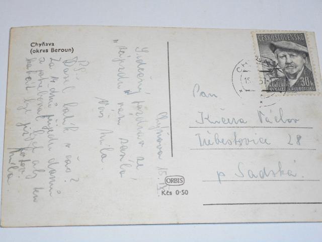 Chyňava - okres Beroun - pohlednice