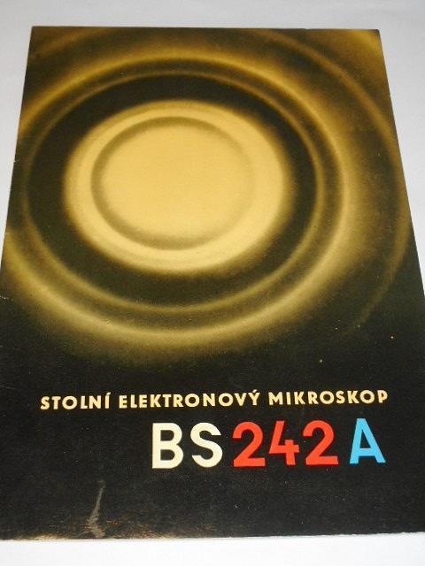 Stolní elektronkový mikroskop BS 242 A - prospekt - 1960 - Kovo