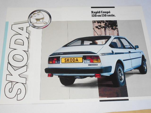 Škoda Rapid Coupé 120 en 130 serie - prospekt