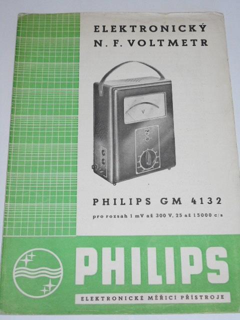 Philips GM 4132 - elektronický n. f. voltmetr - prospekt - 1949