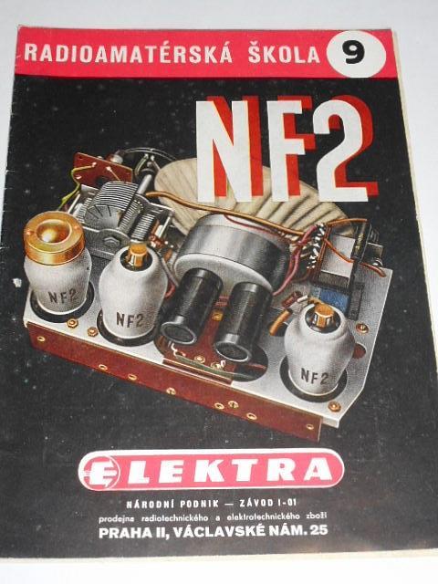 NF 2 - 2-elektronkový universální přijimač - L. Farkaš - radioamatérská škola 9