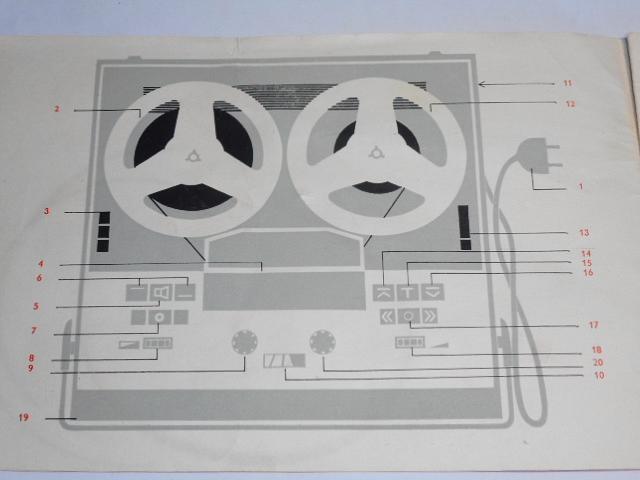 Tesla B 400 ANP 222 - magnetofon - návod k obsluze