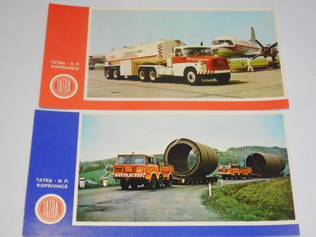 Tatra - národní podník - Kopřivnice - pohlednice - Tatra 148, 813, 613