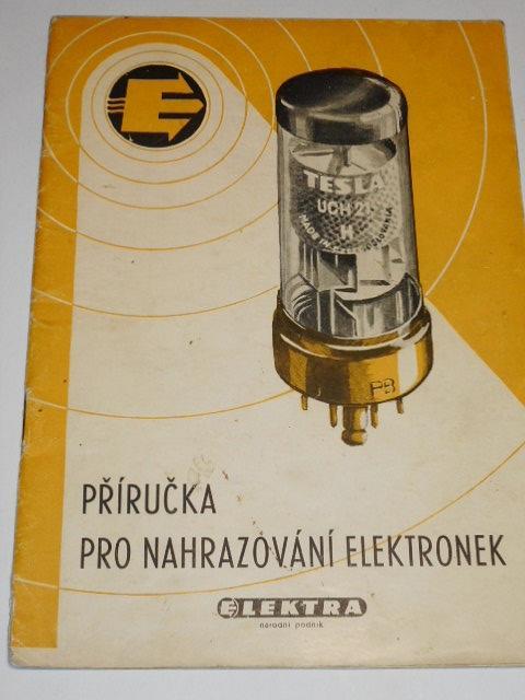 Příručka pro nahrazování elektronek - Elektra n. p.