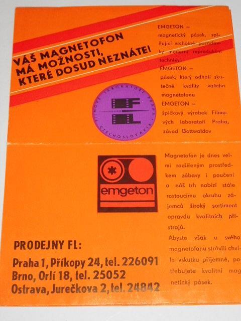 Emgeton - Váš magnetofon má možnosti, které dosud neznáte! prospekt
