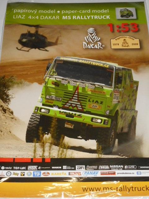 Liaz 4 x 4 Dakar MS Rallytruck - papírový model - 1:53 - 2009