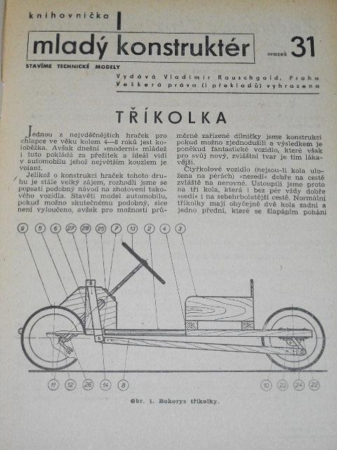 Mladý konstruktér - svazek 31 - 40 - Vladimír Rauschgold - 1943 - 1944