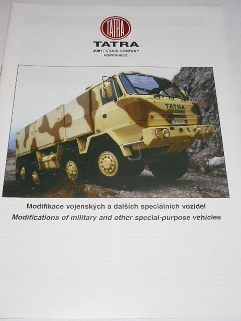 Tatra - Modifikace vojenských a dalších speciálních vozidel - prospekt