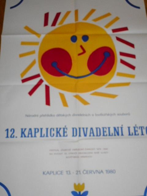 12. kaplické divadelní léto - národní přehlídka dětských divadelních a loutkařských souborů - Kaplice 13. - 21. června 1980 - plakát