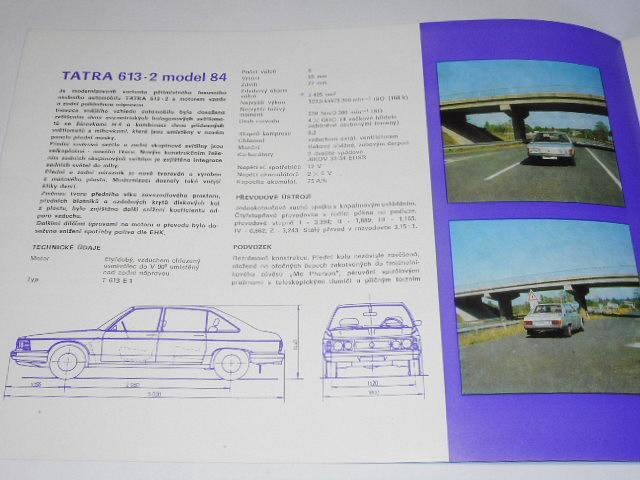 Tatra 613-2 model 84 - prospekt