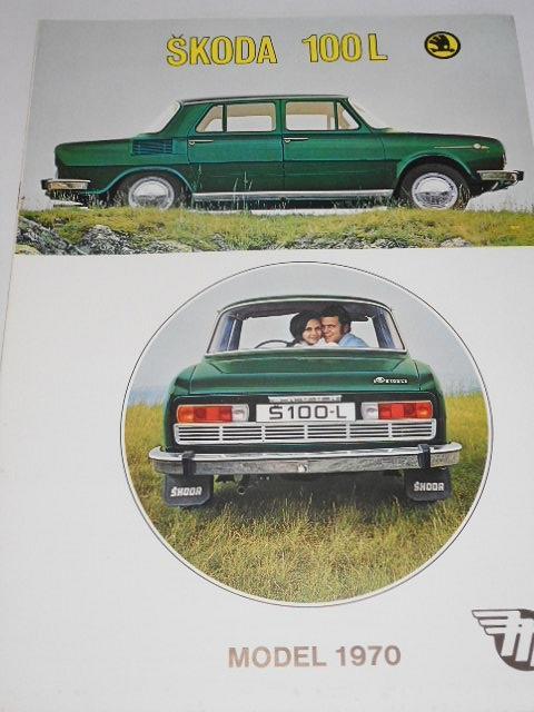 Škoda 100 L model 1970 - Mototechna - prospekt