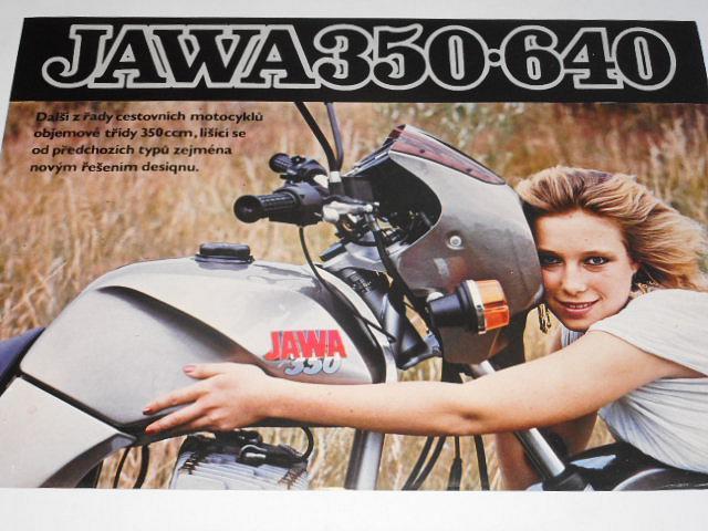 JAWA 350 typ 640 - prospekt