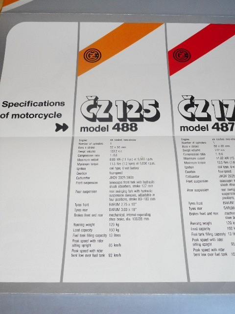 ČZ 125/488, 175/487 - prospekt - Motokov