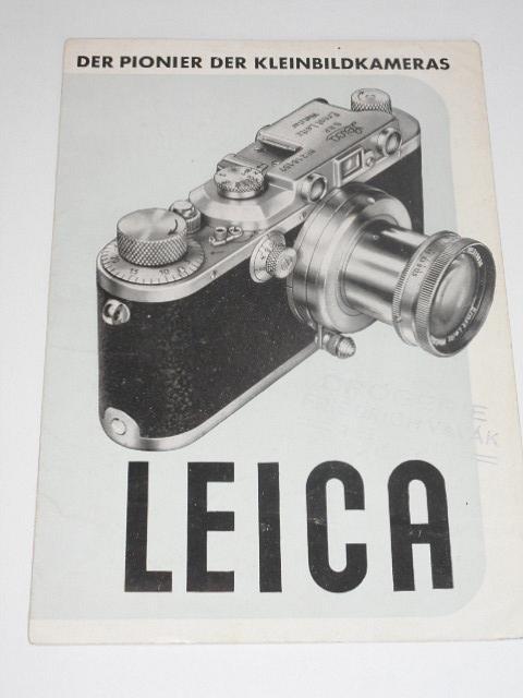 Leica - Ernst Leitz, Wetzlar - prospekt